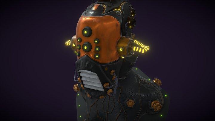 Scifi Helmet 3D Model