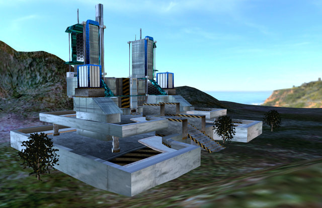 Military Fortress Devil's Tooth Mountain 3D Model