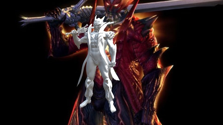 Devil May Cry IV - Dante Devil Form 3D Model