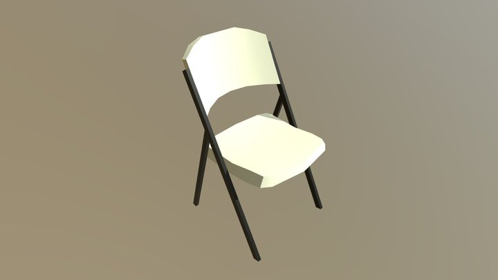 Lowpoly Folding Chair 3D Model