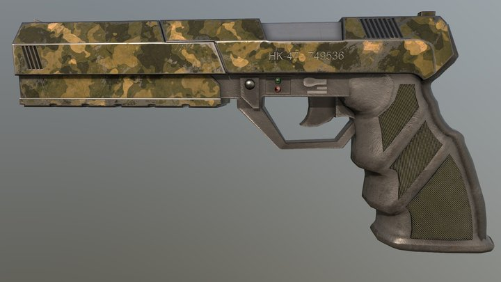 HK-47 Pistol (version 2) 3D Model