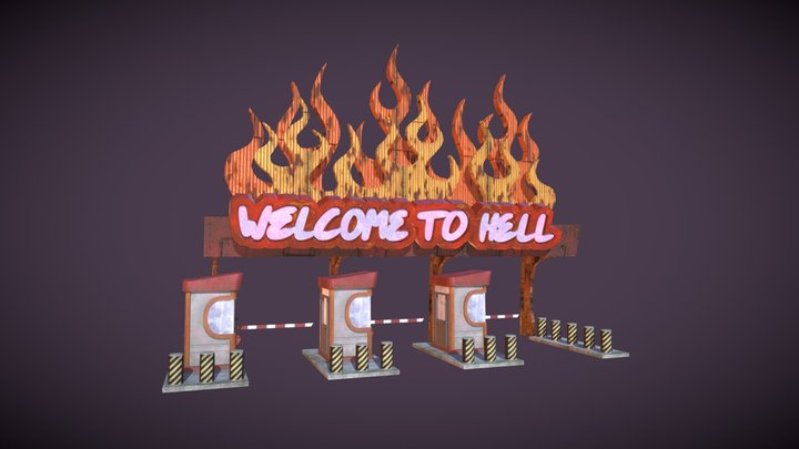 Hell Toll Booth 3D Model