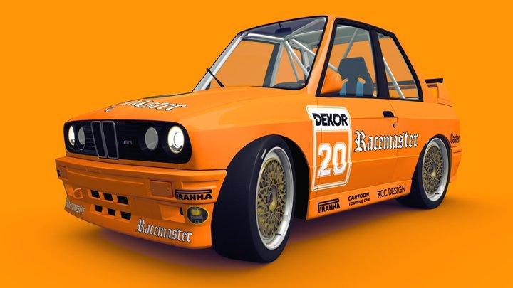 Cartoon Touring Car 3D Model