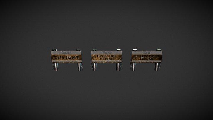 Project Arroyo | Vault City Signs 3D Model
