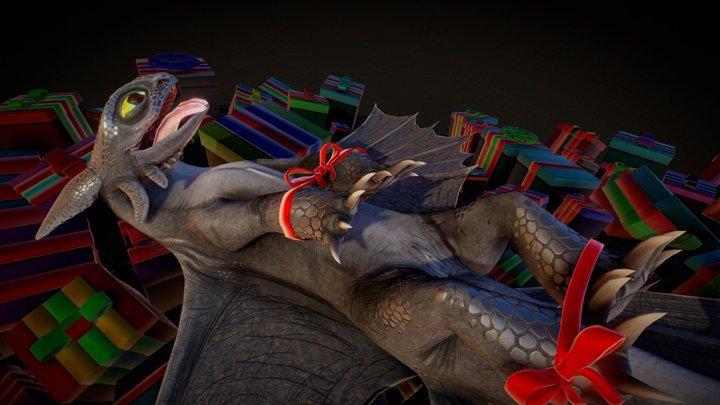 Toothless gift 3D Model