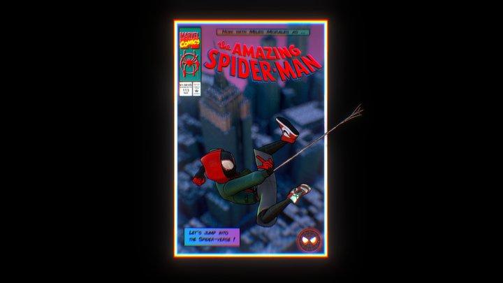 """Spider-verse"" Web Comic 3D Model"