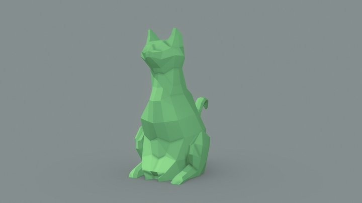 Low Poly Cat 3D Model