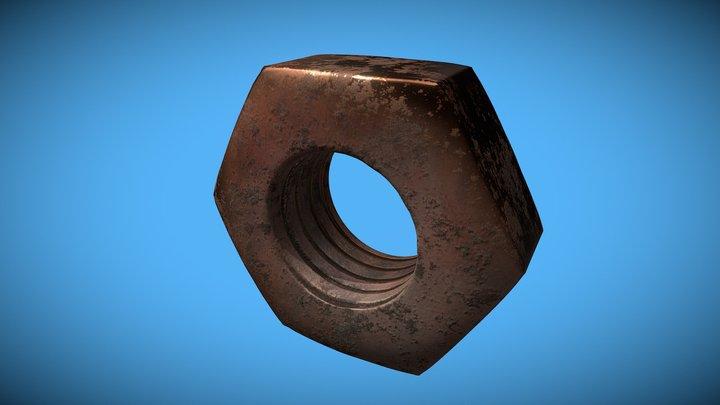 Rusted screw [v3] 3D Model