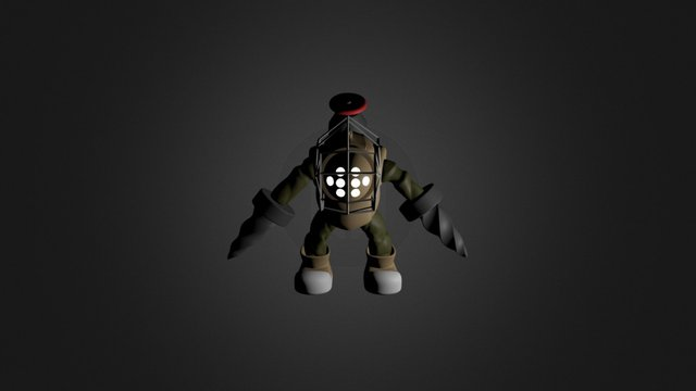 14-Big Daddy Bioshock 3D Model