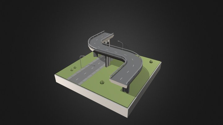 Streets And Bridges 3D Model
