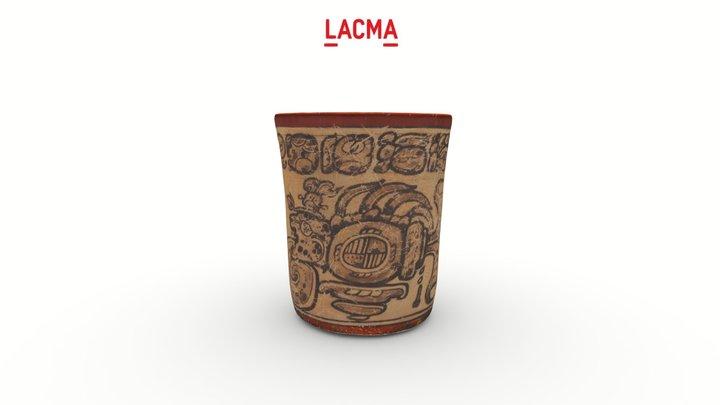 Codex-Style Vase with Waterlily Jaguar Motif 3D Model