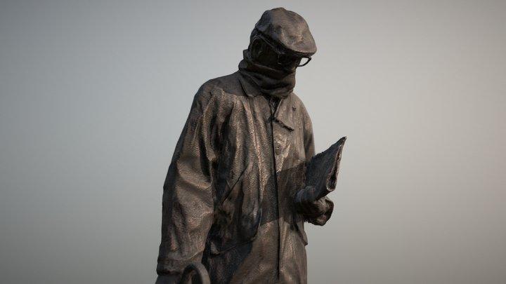 Escultura Miguel Delibes 3D Model