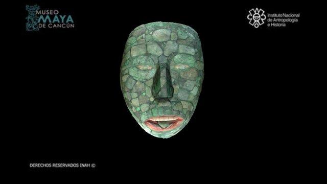 Máscara de piedra verde 3D Model