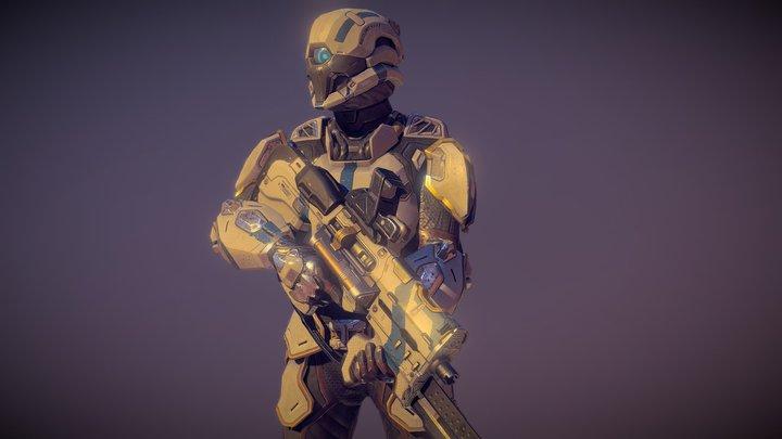 Security Cyborg 3D Model