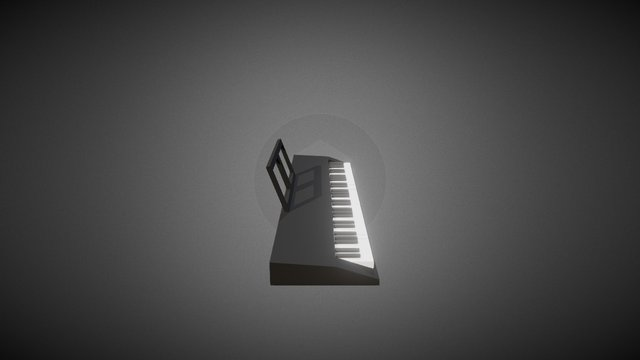 Low Poly Piano/Keyboard 3D Model