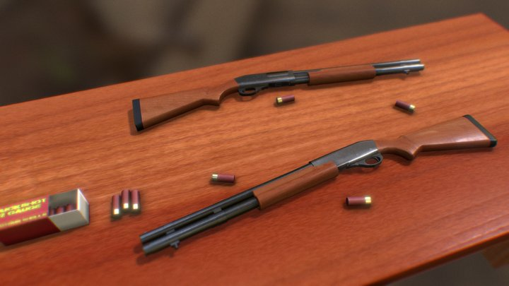 Remington 870 Scene Render Class Project 3D Model