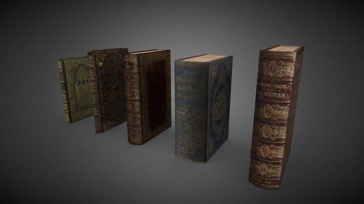 Shabby books 3D Model