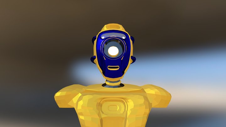 Robot M1 head animation model 3D Model