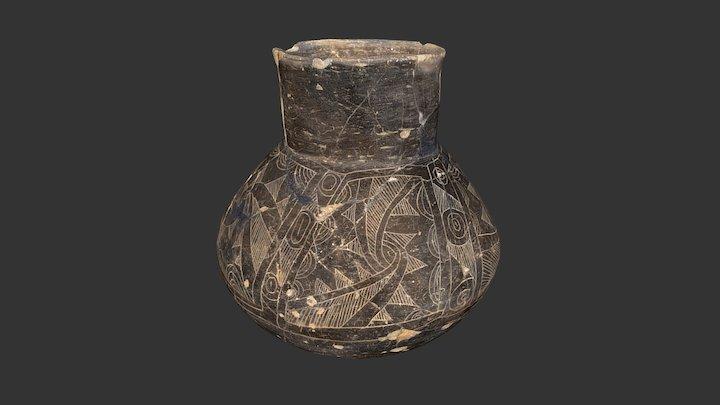 Moundville Engraved Bottle 3D Model