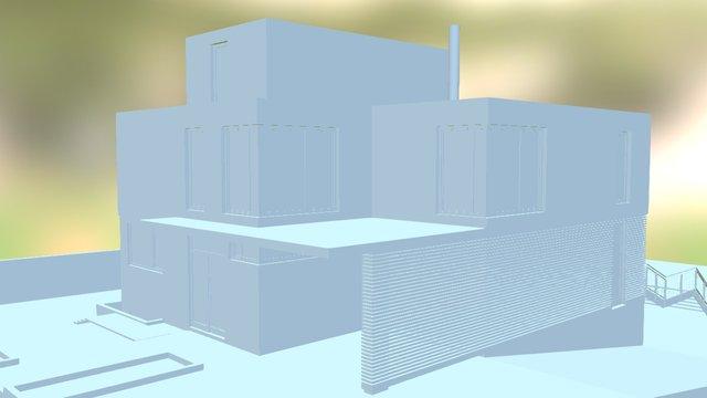 BIMblog Projet Demo 01 - Monochrome 3D Model