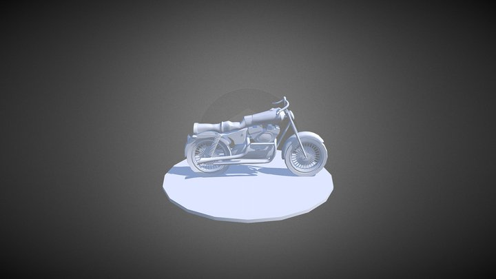 Motorcycle (Unfinished) 3D Model