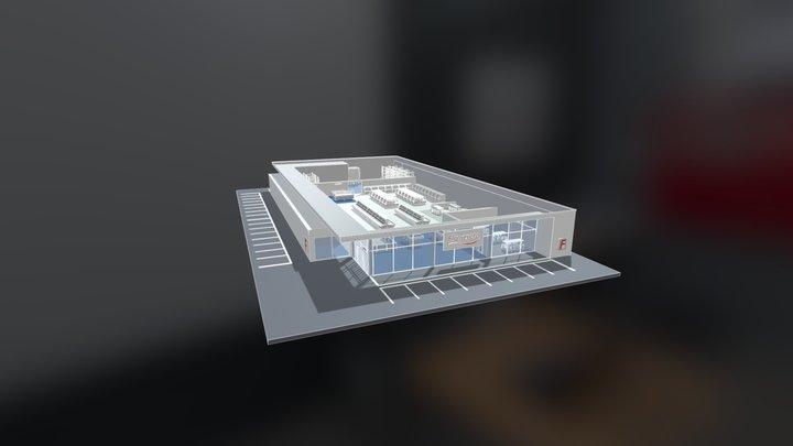 [UK] Interactive 3D Model - Supermarket 3D Model