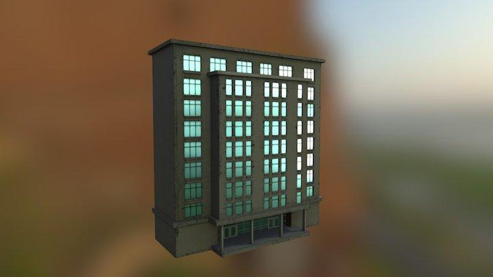 PBR Textured Building 3D Model