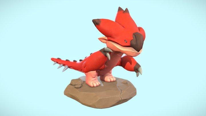 Stylized Monster Hunter sculpt 3D Model