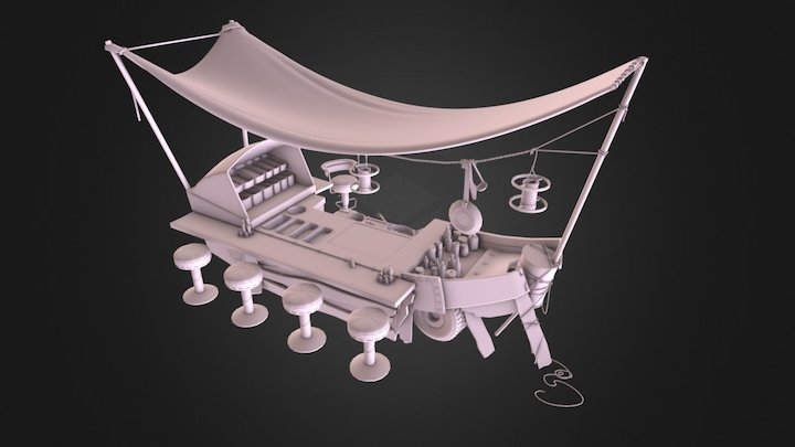 Noodle Boat 3D Model
