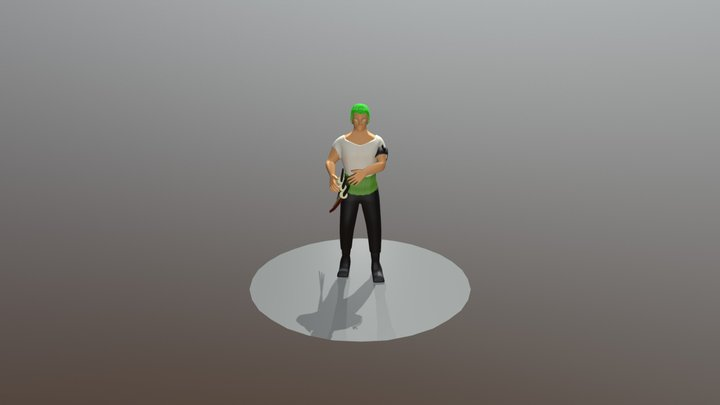 Roronoa Zoro One Piece 3D Model