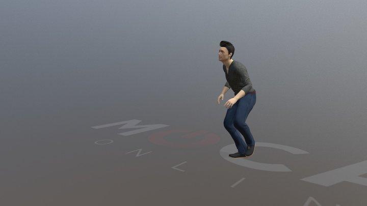 Daz3D Scared! Animation P1 - Michael 8 3D Model
