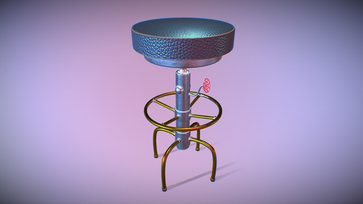 Cyberpunk stool 3D Model