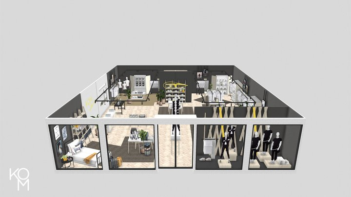 KOM Store 3D Model