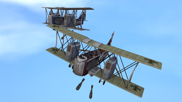 Game Art: Gotha IV bomber 3D Model