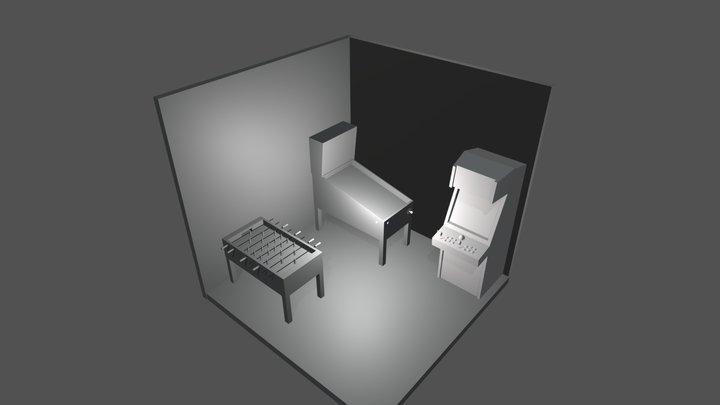 Game Room 3D Model