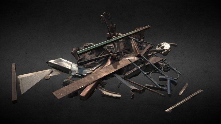 Scrap Metal Heap 3D Model