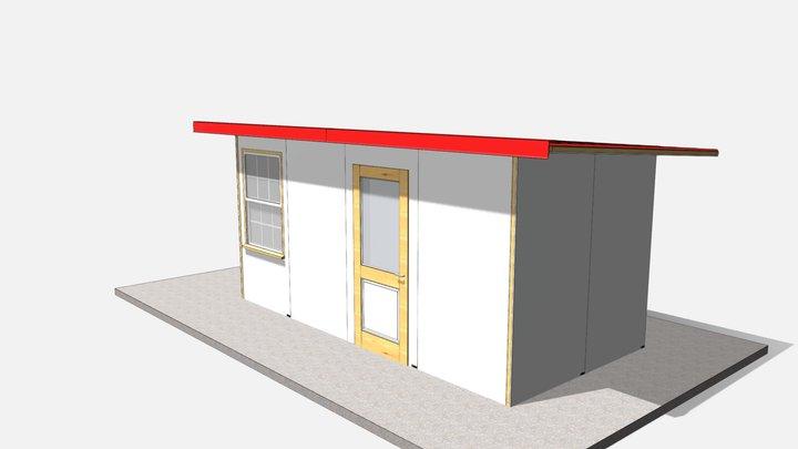 128 sq ft 12 sq m 3D Model