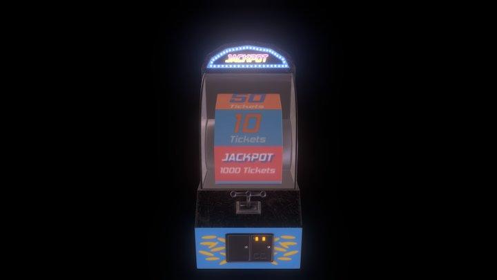 Arcade Jackpot Game 3D Model
