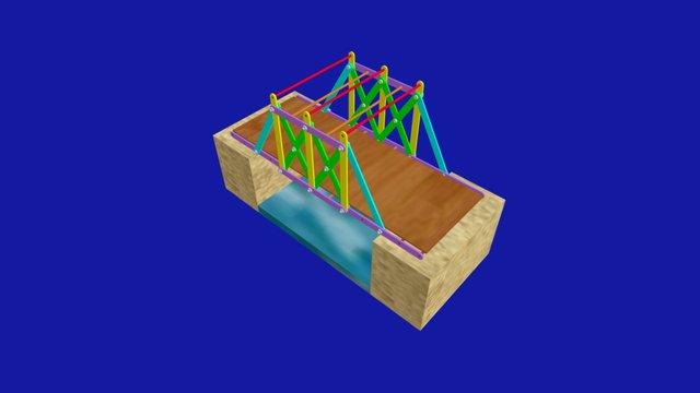 Treillis Passerelle 3D 3D Model