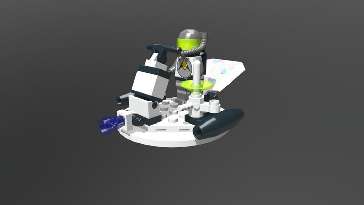 Lego System 6815 Hovertron 3D Model