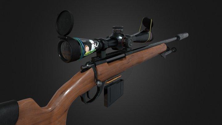Sniper Rifle M24 3D Model