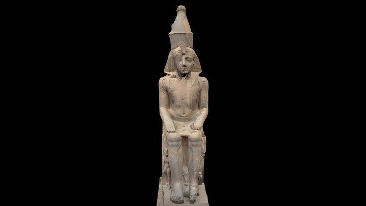 Ramses II in Louxor Temple 3D Model