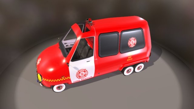 PickUp Fire Van 3D Model