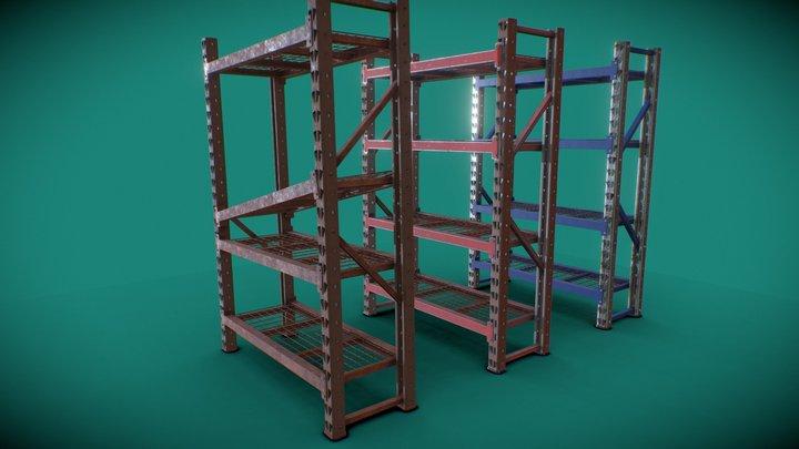 Industrial Shelving - Tall 3D Model
