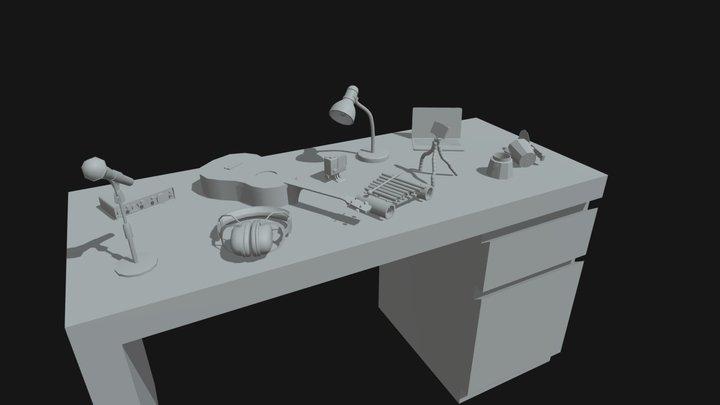 10 drafts, XYZ School homework 3D Model