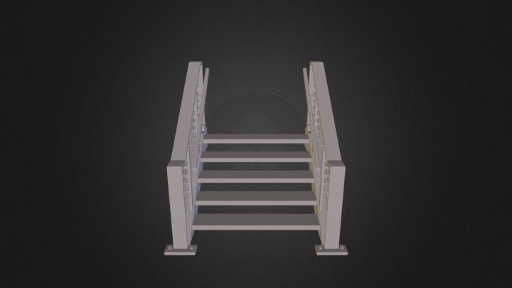 Modular Stairs 3D Model
