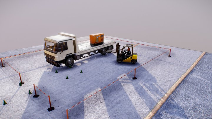Unbranded Safe Zones2 3D Model