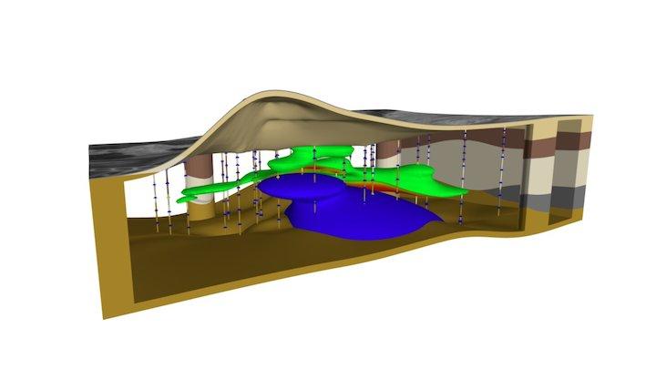 Pendleton Soil & Groundwater Contamination 3D Model