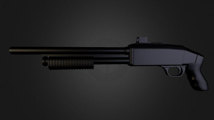 Fusil à Pompe 3D Model