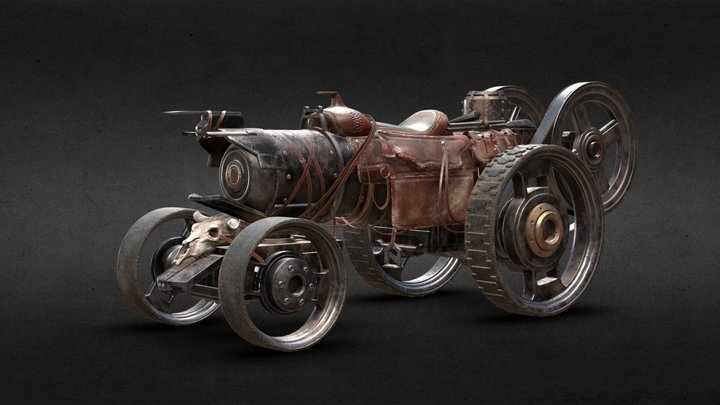 Steampowered Steed 3D Model